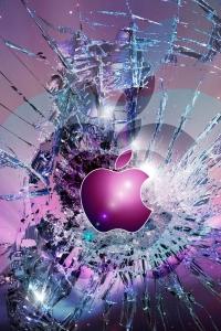 Vorschau Gebrochenen Display Apple Handy Logo