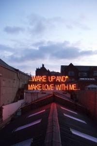Vorschau Wake up and make love Handy Logo
